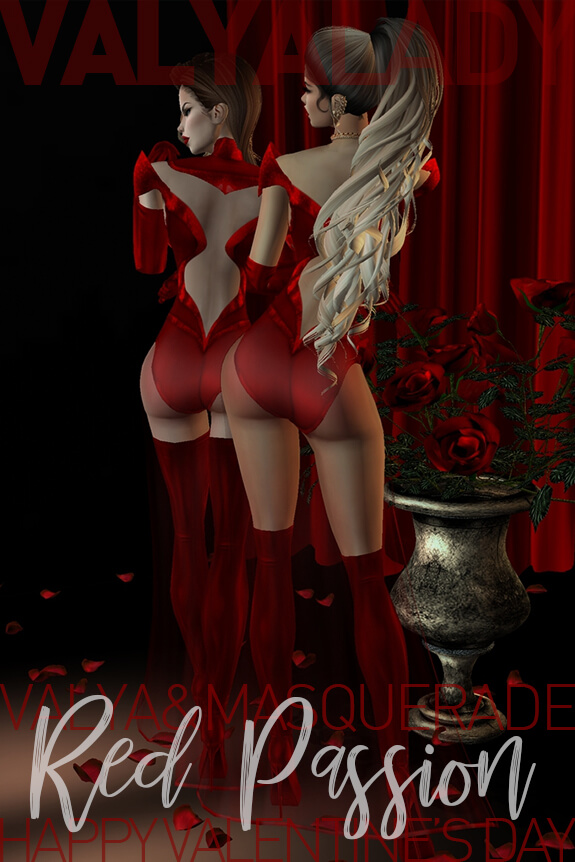 Red Passion Valentine's Day Outfit by ValyaLady